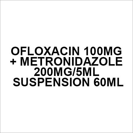 Ofloxacin 100mg + Metronidazole 200mg 5ml Suspension 60ml