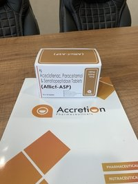 Aceclofenac 100mg+Paracetamol 325mg+Serratiopeptidase(EC) 10mg