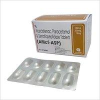 Aceclofenac 100mg+Paracetamol 325mg+Serratiopeptidase(EC)15mg