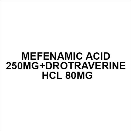 Mefenamic acid 250mg+Drotraverine HCl 80mg
