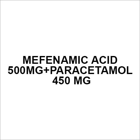 Mefanamic acid 500mg+Paracetamol 450 mg
