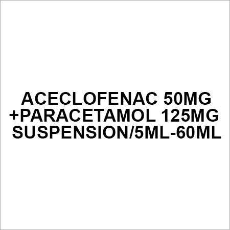 Aceclofenac 50mg+Paracetamol 125mg suspension 5ml-60ml