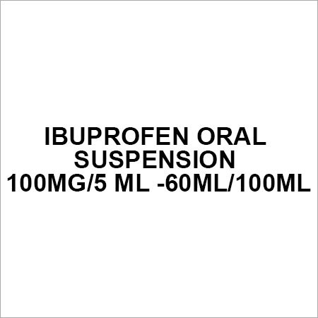 Ibuprofen oral suspension 100mg 5 ml -60ml 100ml