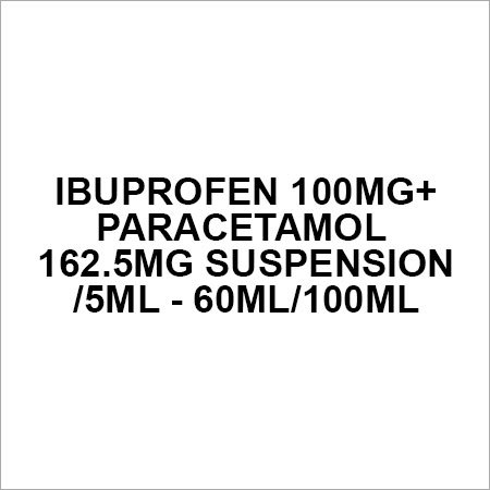 Ibuprofen 100mg+Paracetamol 162.5mg suspension 5ml - 60ml 100ml