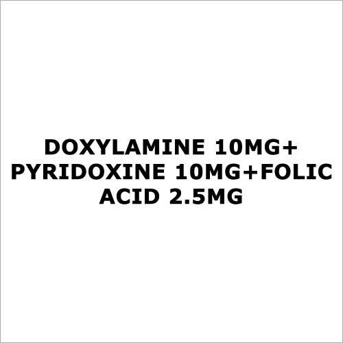 Doxylamine 10mg+Pyridoxine 10mg+Folic acid 2.5mg