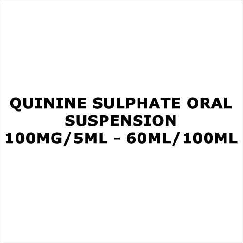 Quinine Sulphate Oral suspension 100mg 5ml - 60ml 100ml