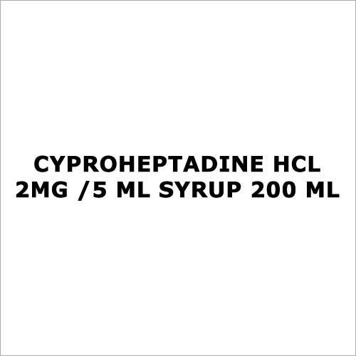 Cyproheptadine HCL 2mg  5 ml Syrup 200 ml