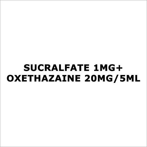 Sucralfate 1mg+Oxethazaine 20mg 5ml