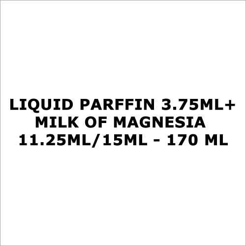 Liquid Parffin 3.75ml+Milk of Magnesia 11.25ml 15ml - 170 ml