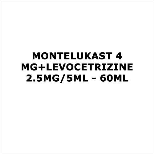 Montelukast 4 mg+Levocetrizine 2.5mg 5ml - 60ml