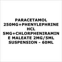 Paracetamol 250mg+Phenylephrine HCL 5mg+Chlorpheniramine Maleate 2mg 5ml Suspension - 60ml