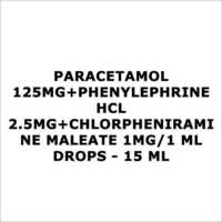 Paracetamol 125mg+Phenylephrine HCL 2.5mg+Chlorpheniramine Maleate 1mg 1 ml Drops - 15 ml