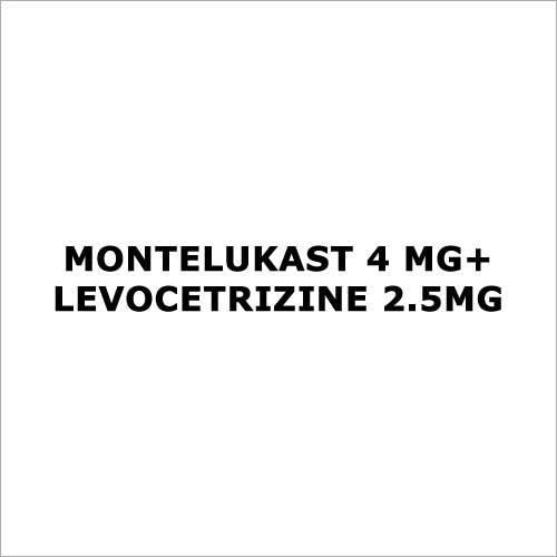 Montelukast 4 mg+Levocetrizine 2.5mg