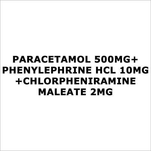 Paracetamol 500mg+Phenylephrine HCL 10mg+Chlorpheniramine Maleate 2mg