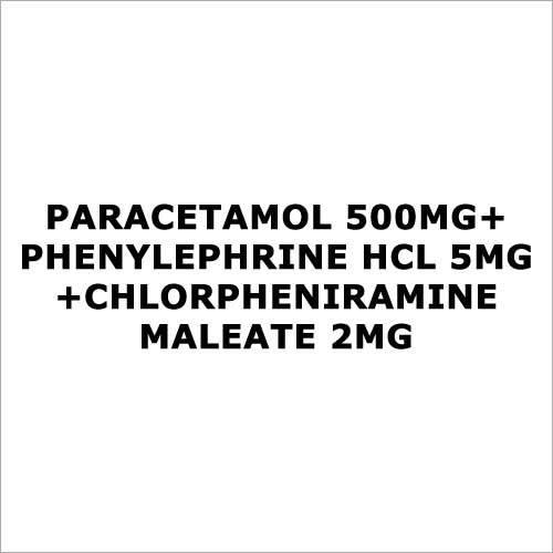 Paracetamol 500mg+Phenylephrine HCL 5mg+Chlorpheniramine Maleate 2mg