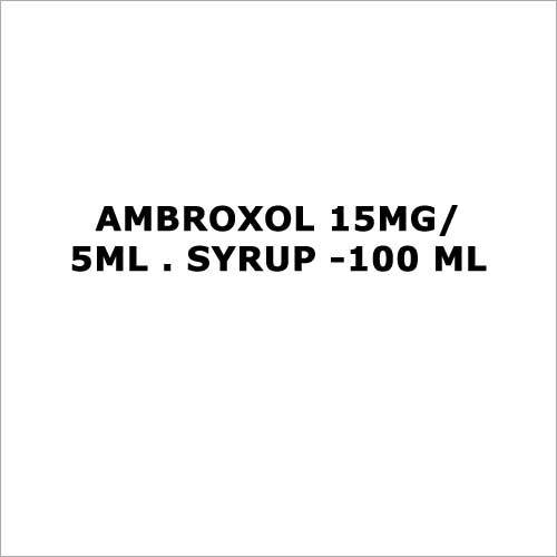 Ambroxol 15mg 5ml . Syrup -100 ml