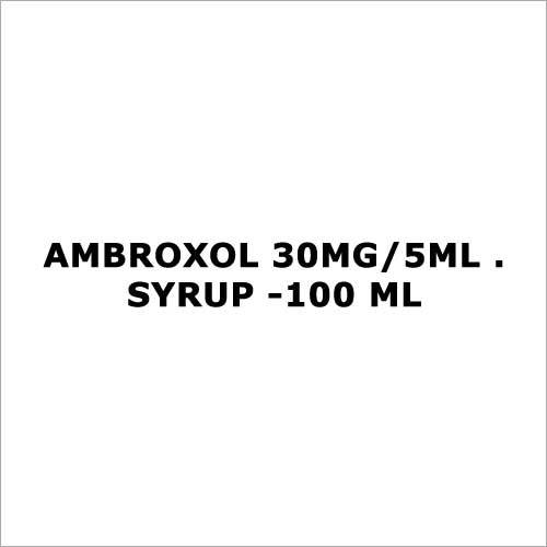 Ambroxol 30mg 5ml . Syrup -100 ml