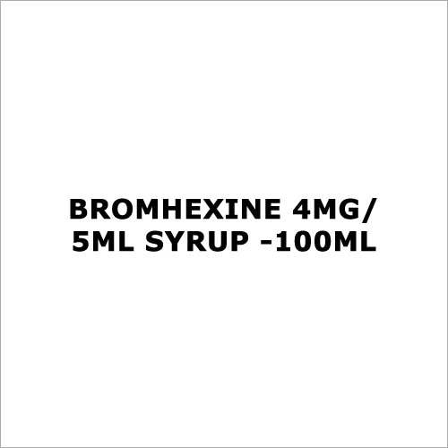 Bromhexine 4mg 5ml Syrup -100ml
