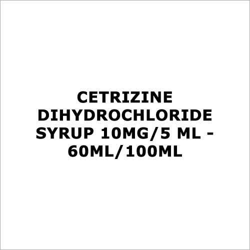 Cetrizine dihydrochloride syrup 10mg 5 ml - 60ml 100ml