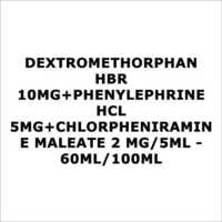 Dextromethorphan HBR 10mg+Phenylephrine HCL 5mg+Chlorpheniramine maleate 2 mg 5ml - 60ml 100ml