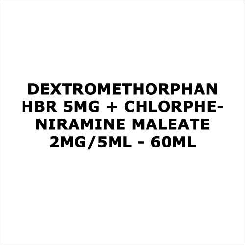 Dextromethorphan HBR 5mg + Chlorpheniramine Maleate 2mg 5ml - 60ml