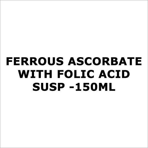 Ferrous ascorbate with folic acid susp -150ml