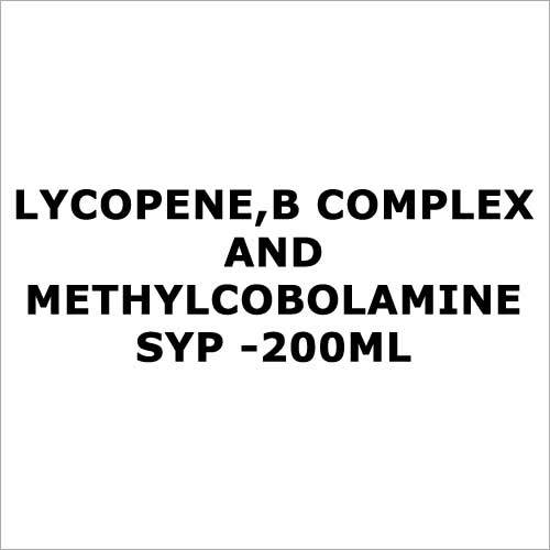Lycopene,B complex and methylcobolamine syp -200ml