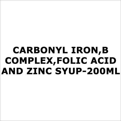 Carbonyl iron,B complex,Folic acid and zinc syup-200ml
