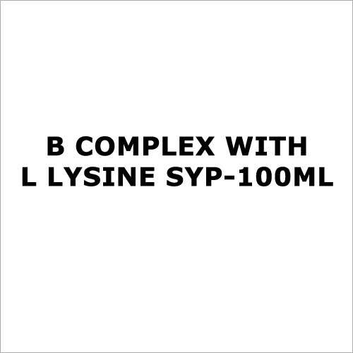 B complex with L lysine syp-100ml