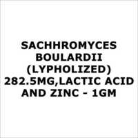Sachhromyces Boulardii(Lypholized) 282.5mg,Lactic acid and zinc - 1gm