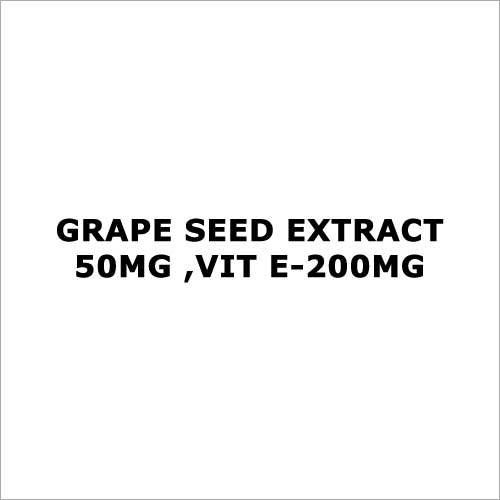 Grape seed Extract -50mg ,Vit E-200mg