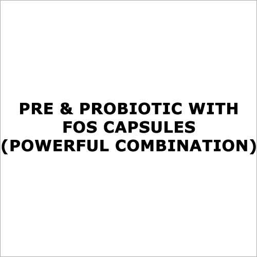 Pre & probiotic with FOS capsules(Powerful combination)