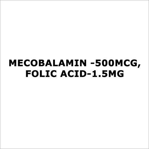 Mecobalamin -500mcg,Folic acid-1.5mg