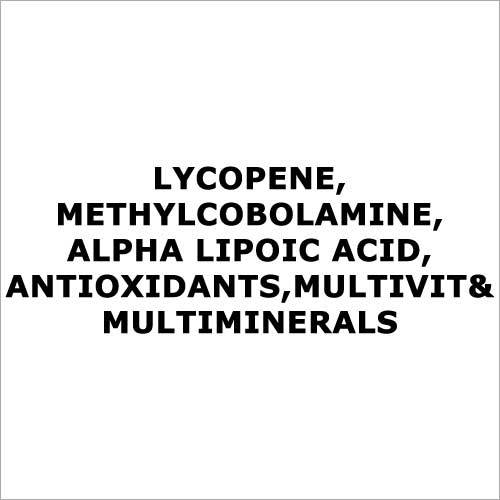 Lycopene,Methylcobolamine,Alpha lipoic acid,Antioxidants,Multivit& multiminerals