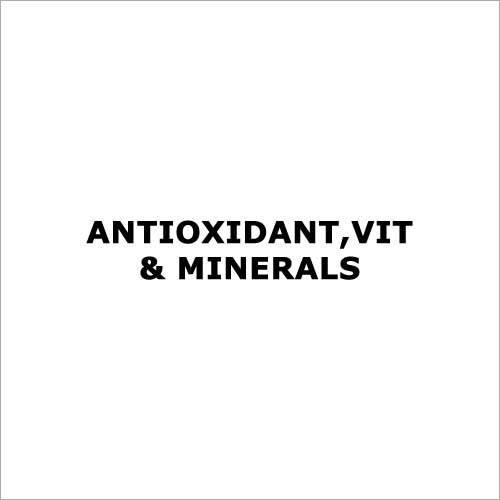 Antioxidant,Vit & Minerals