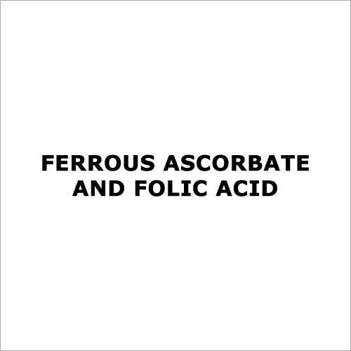 Ferrous ascorbate and folic acid