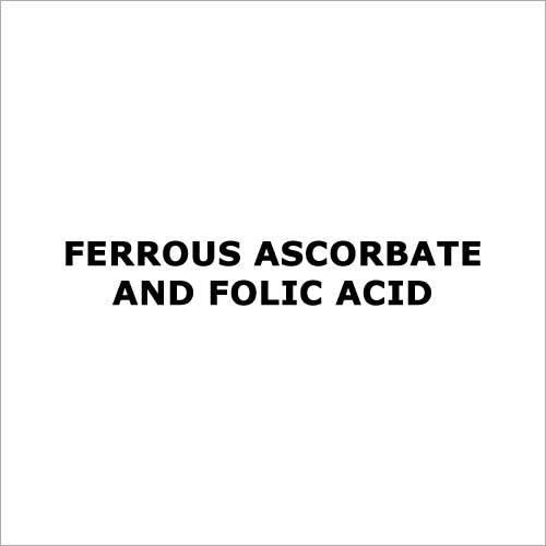 Ferrous ascorbate and folic acid