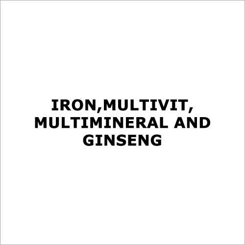 Iron,Multivit,Multimineral and Ginseng