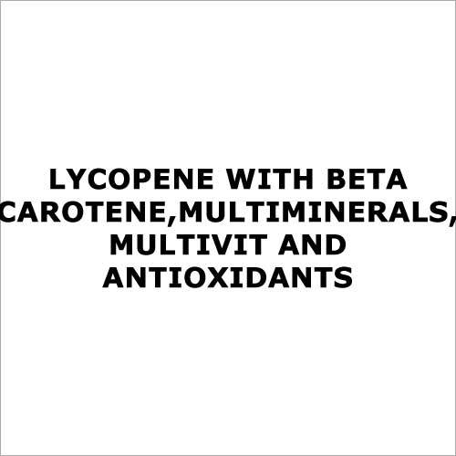 Lycopene with beta carotene,multiminerals,multivit and antioxidants Gender/Age Group: Women