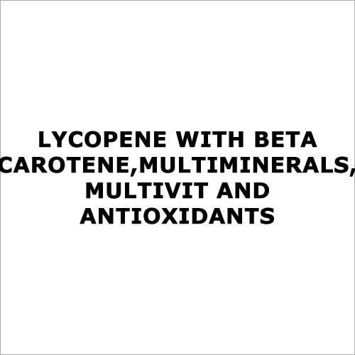 Lycopene with beta carotene,multiminerals,multivit and antioxidants