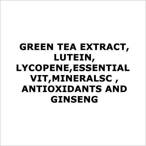 Green tea extract,Lutein,Lycopene,Essential vit,MineralsC ,antioxidants and ginseng