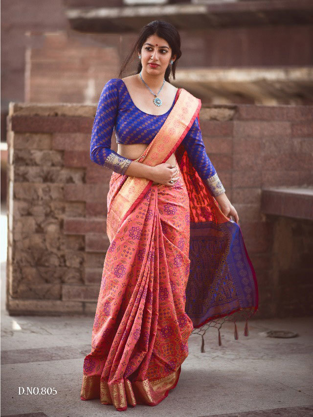 Sethnic patola silk saree wholesale dealer in surat 802 green