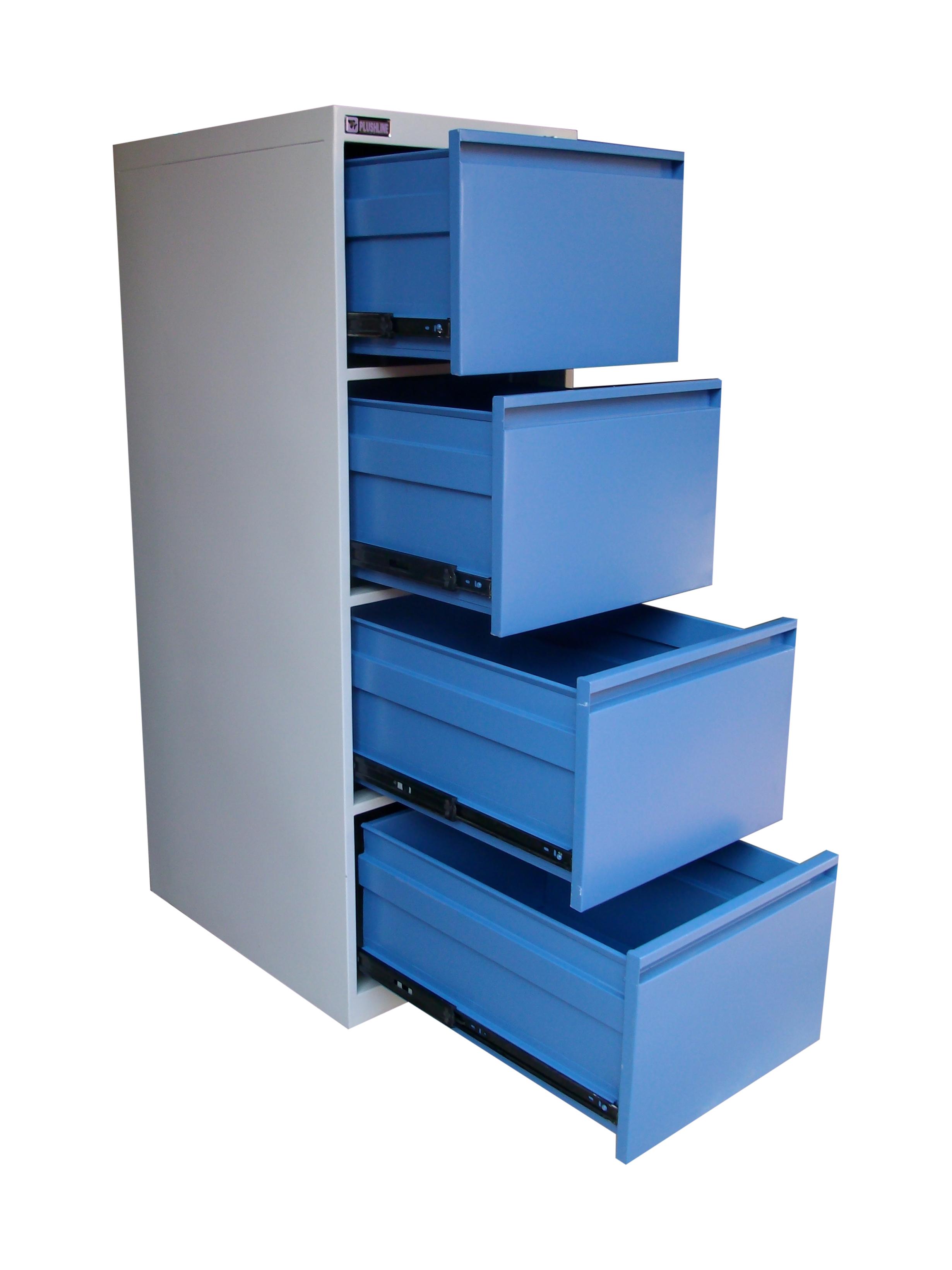 4 Drawer Blue Filing Cabinet