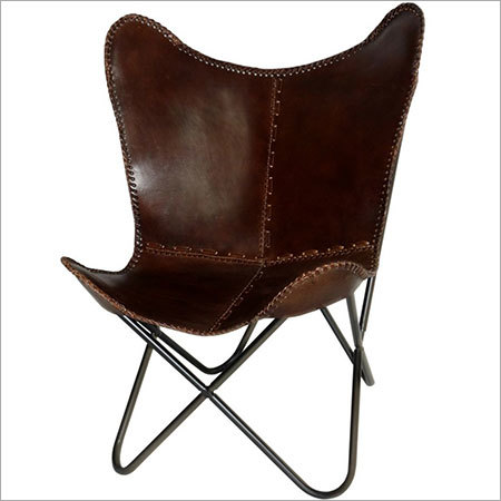 Cowhide Leather Butterfly Chair