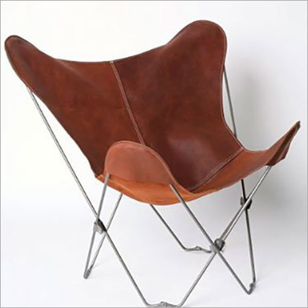 Genuine Leather Butterfly Chair