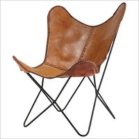 Handmade Leather Butterfly Chair