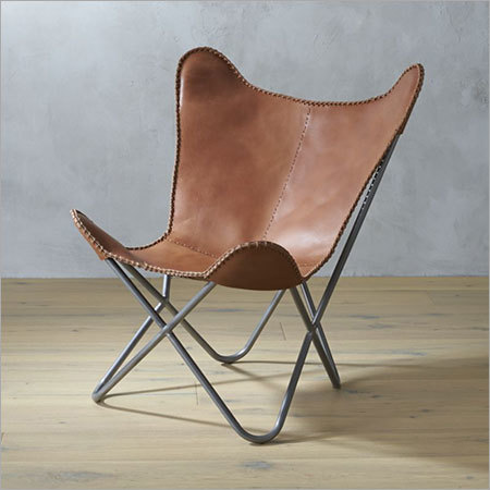 Leather Butterfly Chair in Brown Color