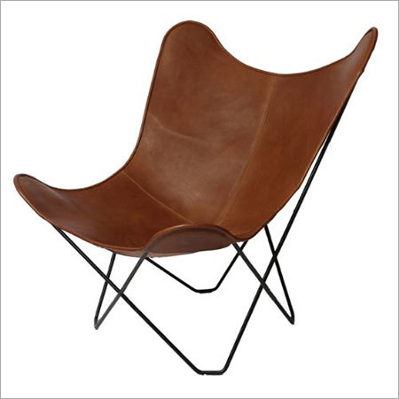 Leather Butterfly Chair with steel Frame