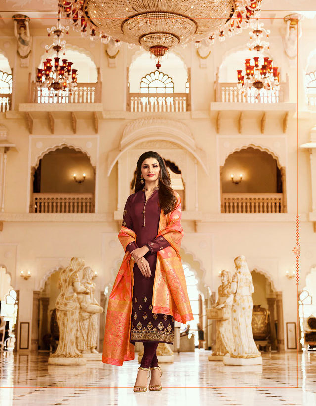 Sethnic Georgette suits 6902 with banarasi rich dupatta in suart