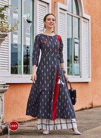 Buy cotton kurti catalog kajal style wholesale price at sethnic surat